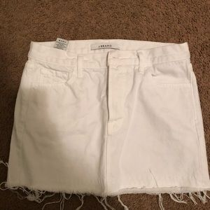 J Brand White Denim Skirt